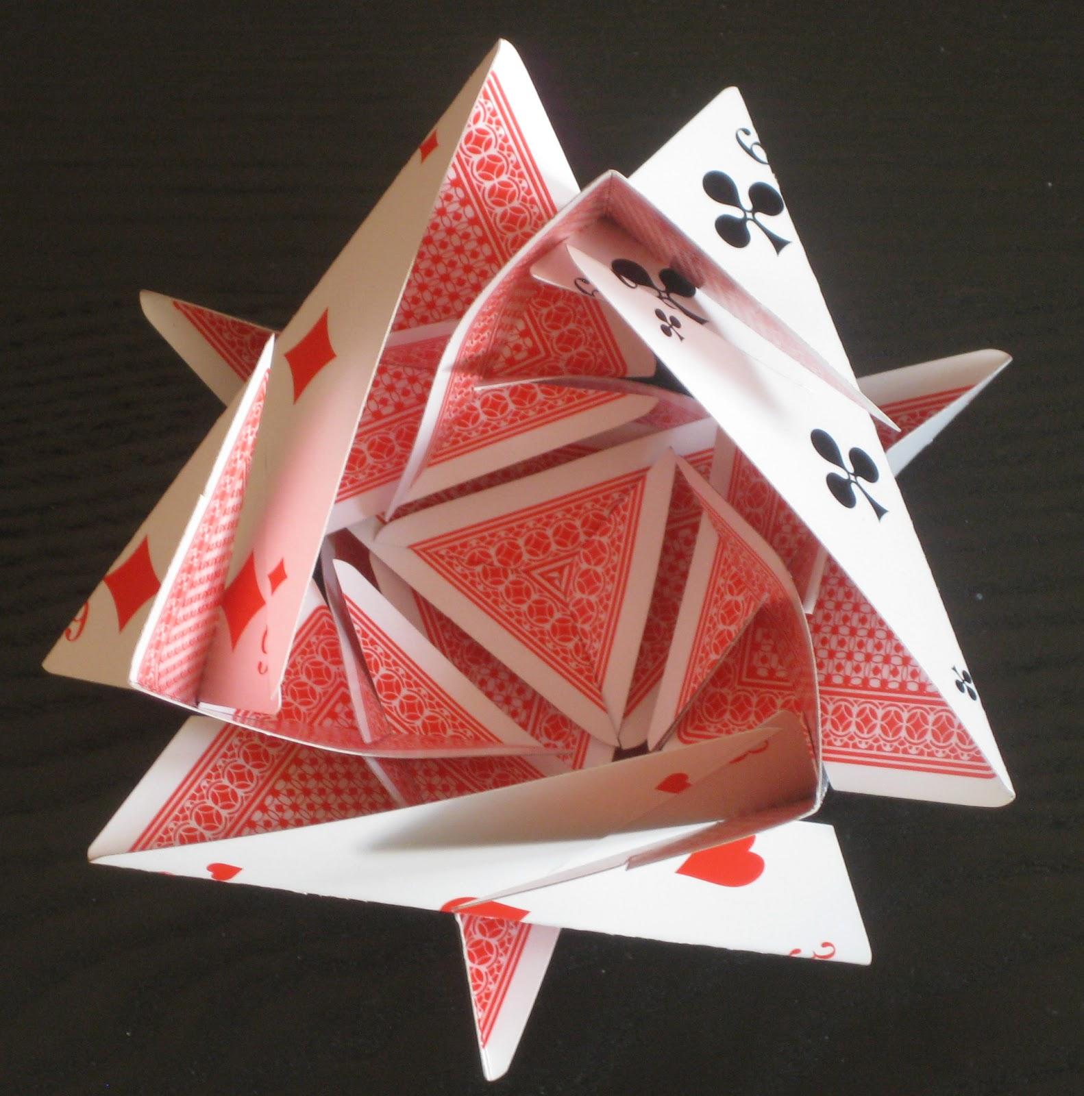 Оригами открытка обычная